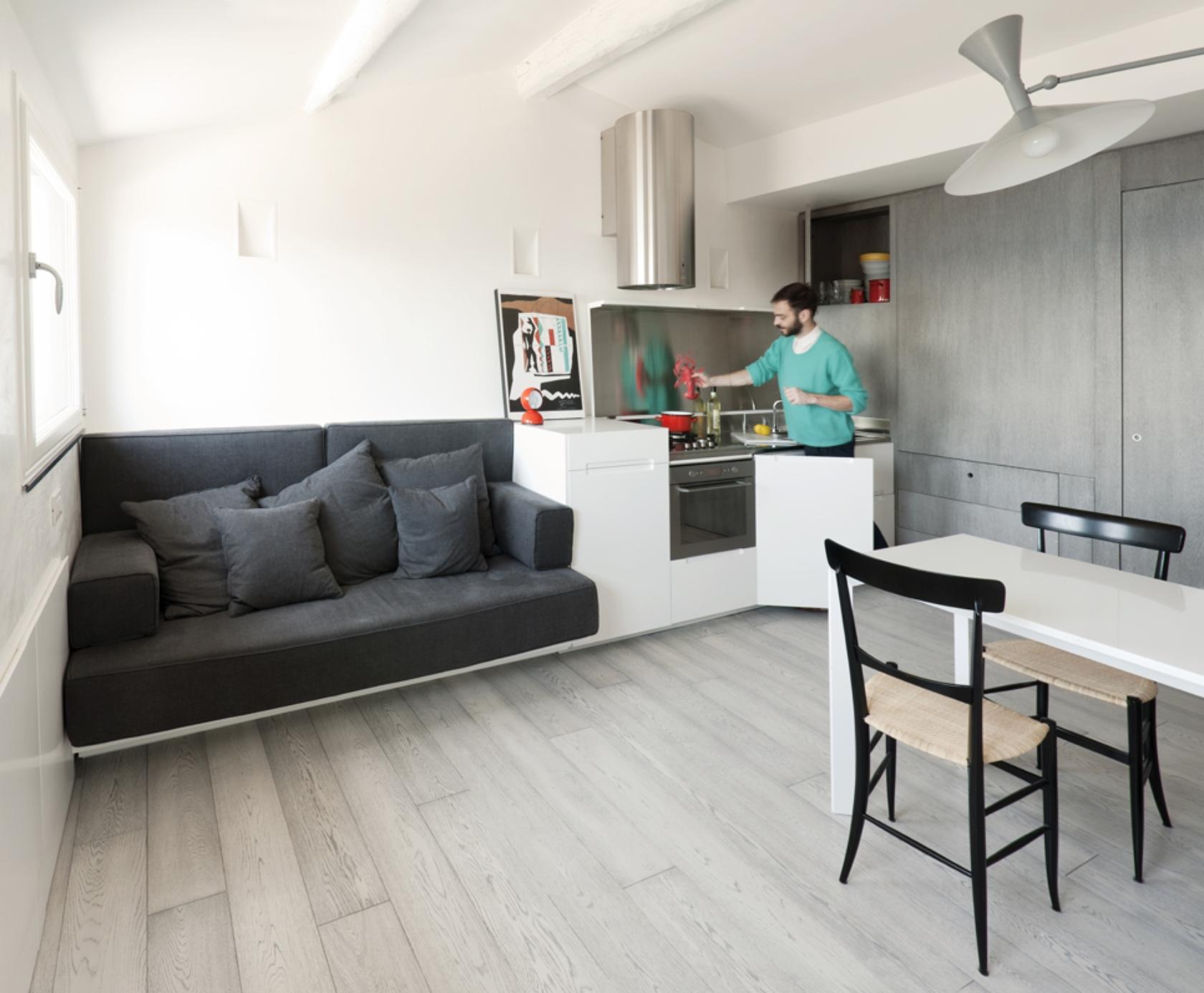 Какой должна быть студийная кухня и санузел