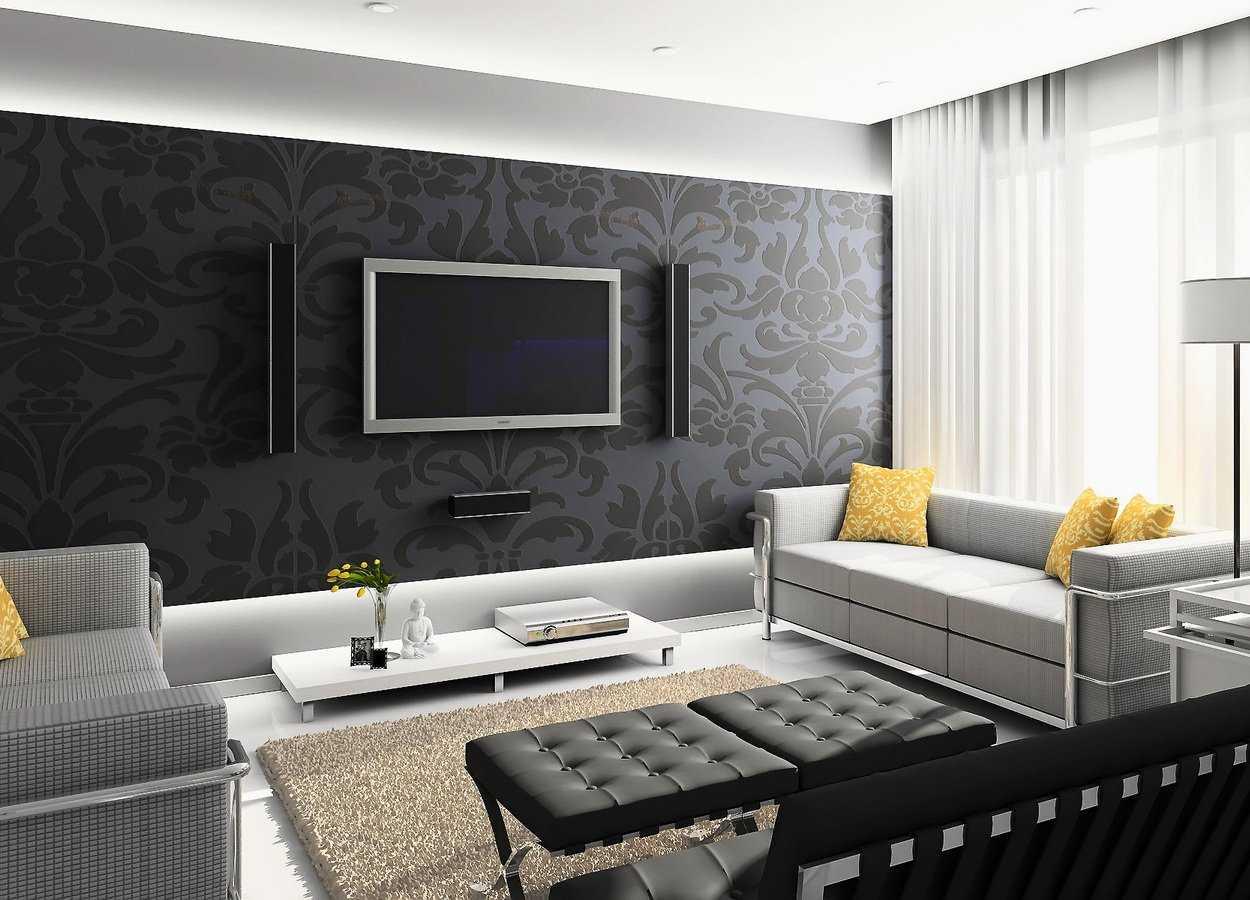 Декорирование стены над диваном