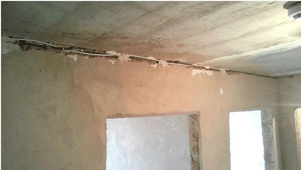 Прокладка проводов под потолком
