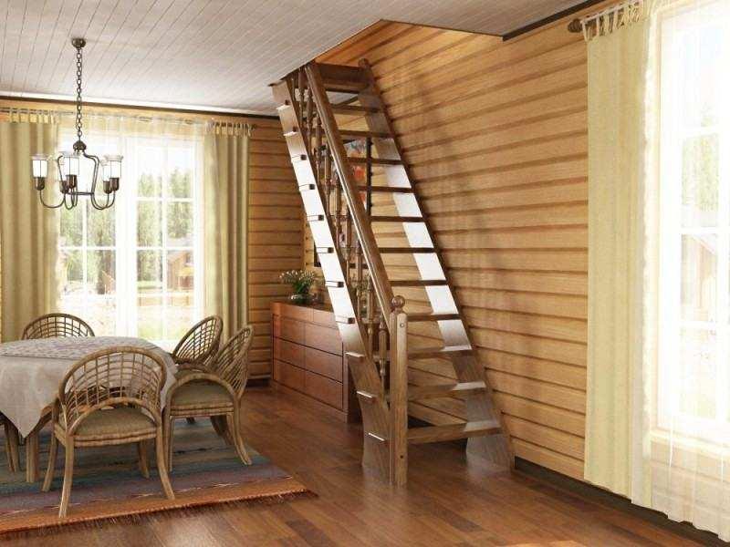 Маршевые лестницы просты и лаконичны, такой тип наиболее подходит для изготовления своими руками