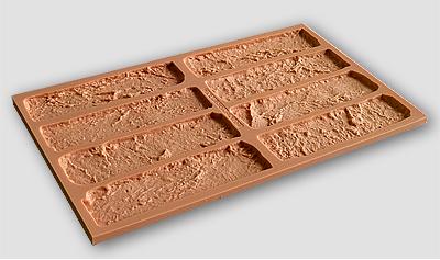 Форма для изготовления гипсовых кирпичей