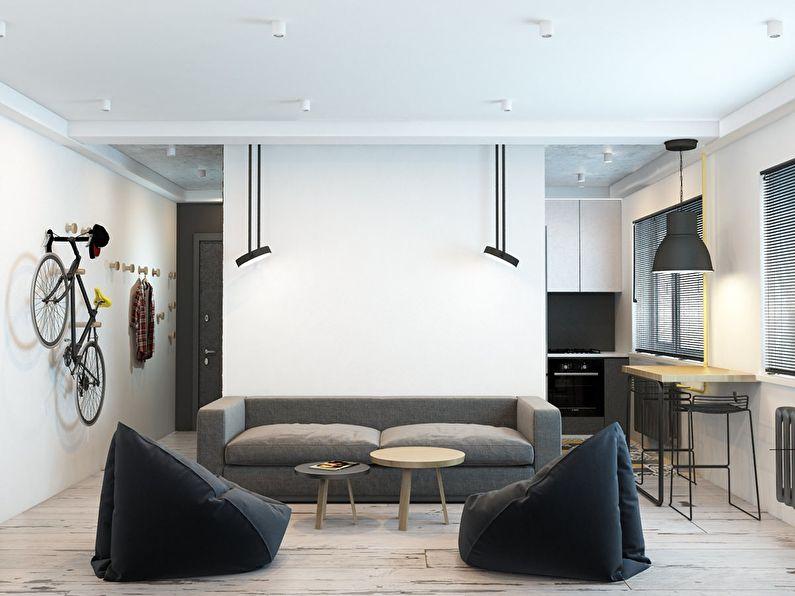 Дизайн маленькой гостиной в хрущевке