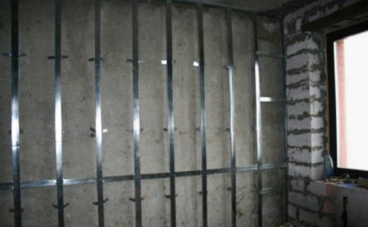 Обрешетка стены