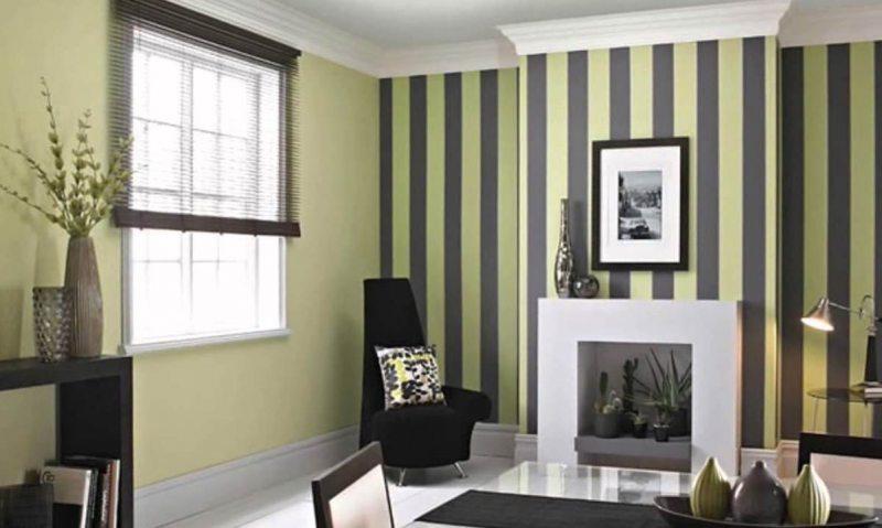 Комбинирование обоев в гостиной — идеи как красиво сочетать два цвета в интерьере гостиной (95 фото)