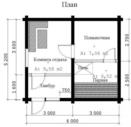 Проектирование каркасной бани