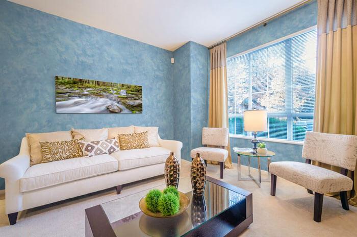 Декоративная покраска стен в квартире