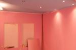 розовое оформление помещения