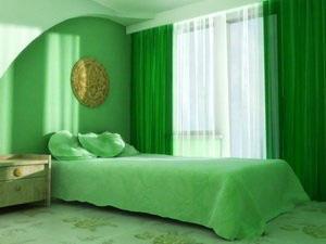 зеленые тона