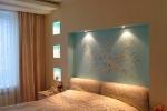 подсветка ниши в спальне