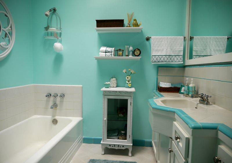 Особенности окраски стен в ванной комнате и на кухне