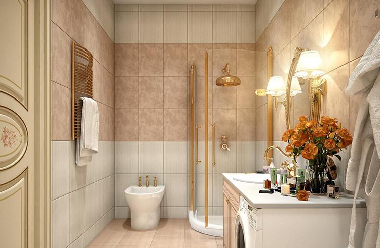 панели в ванной под плитку