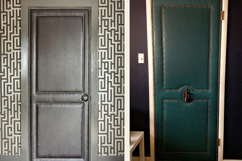 Декор старых дверей своими руками - Кожа