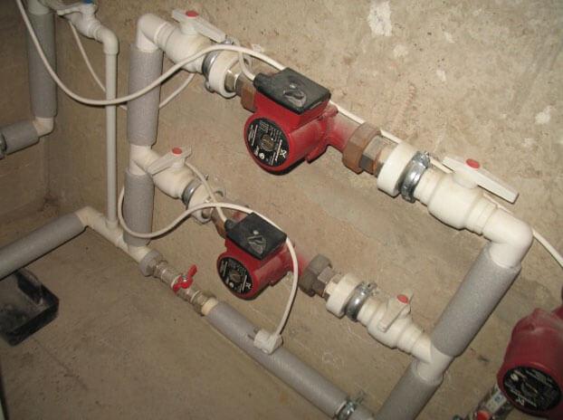 два насоса в системе отопления