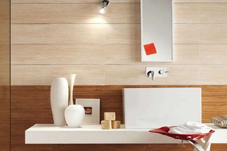 Дизайн маленького туалета - Отделка стен