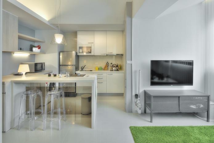 50 идей дизайна интерьера маленькой квартиры студии: