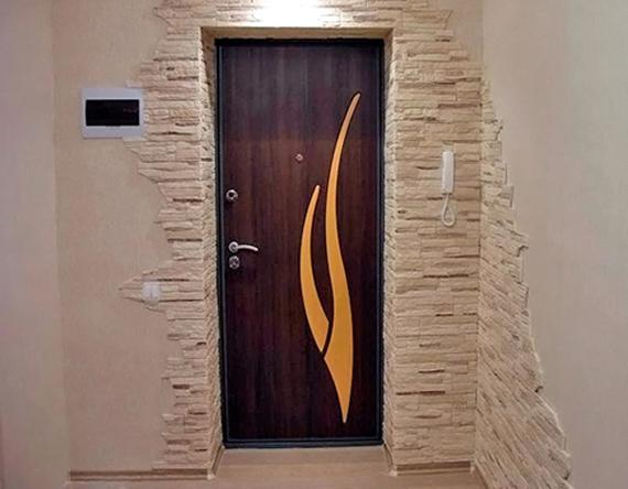 дверные откосы из декоративной плитки