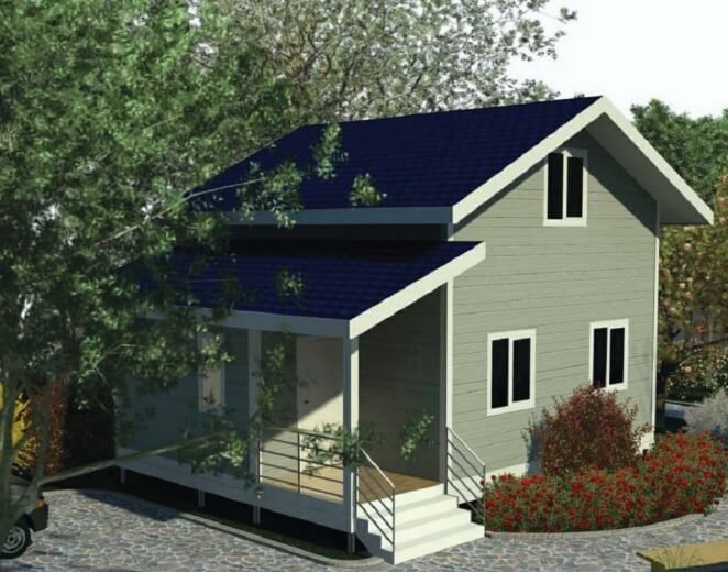 объемная модель дома по канадской технологии