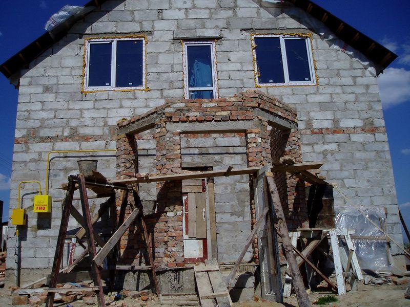 Строительство кирпичной веранды