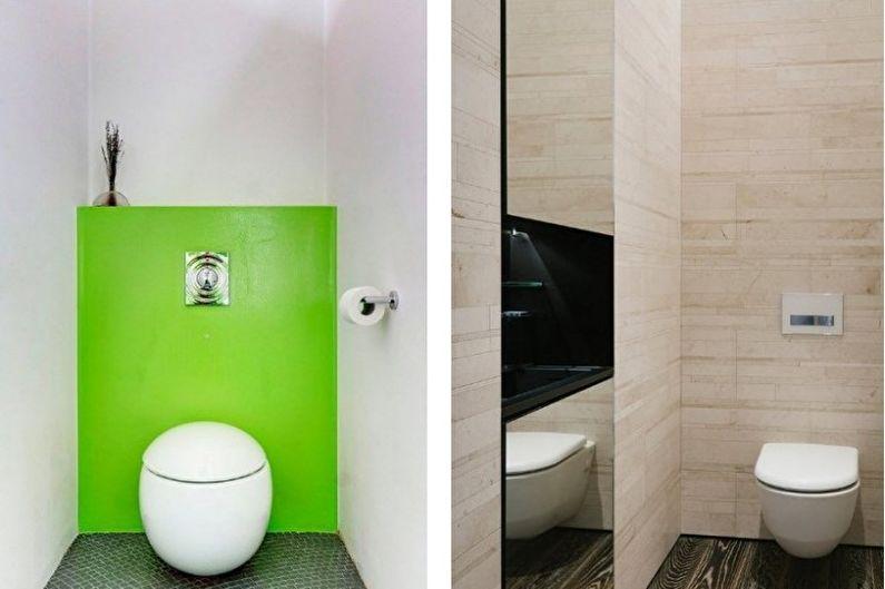 Дизайн интерьера маленького туалета - фото