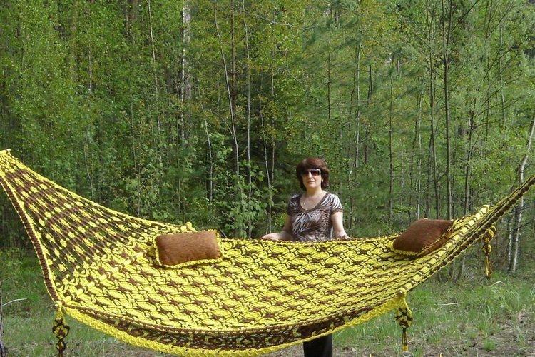 Плетёный гамак