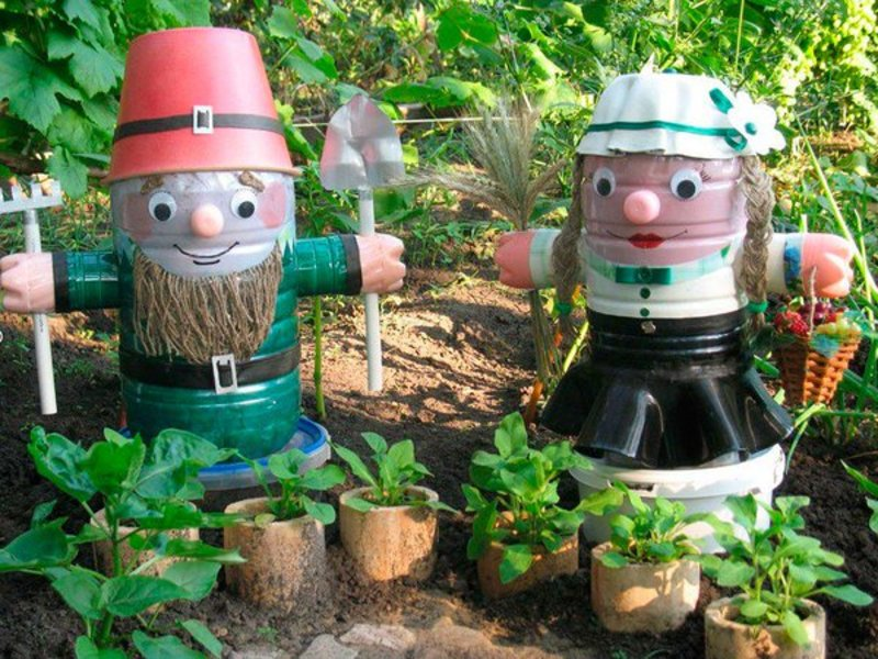 Садовые фигурки для дачи  огородники фото