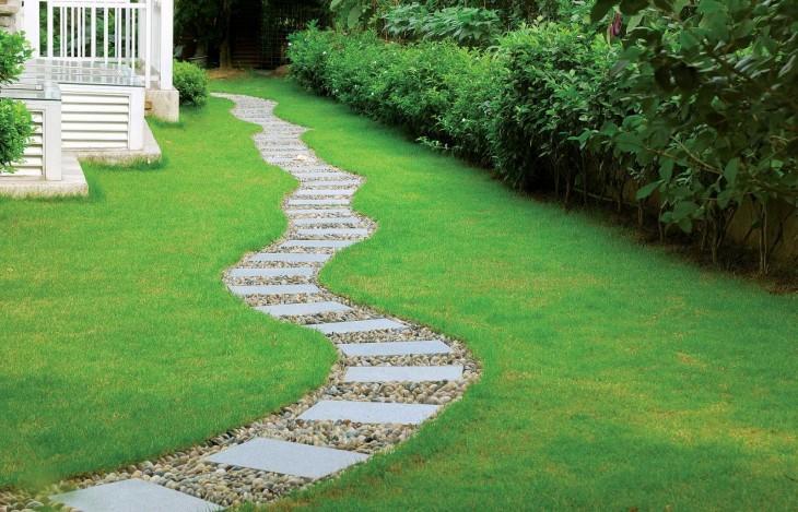 Садовые дорожки своими руками: правила укладки и дизайна. Подбор материалов + 96 фото