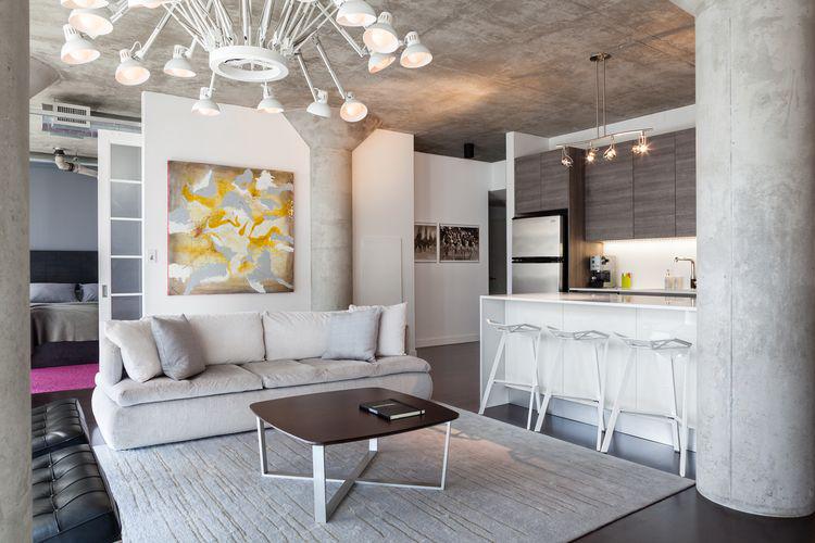 Фото 3 Бетонный потолок в интерьере: 60+ лаконичных идей для дизайна в стиле лофт, минимализм и хай-тек