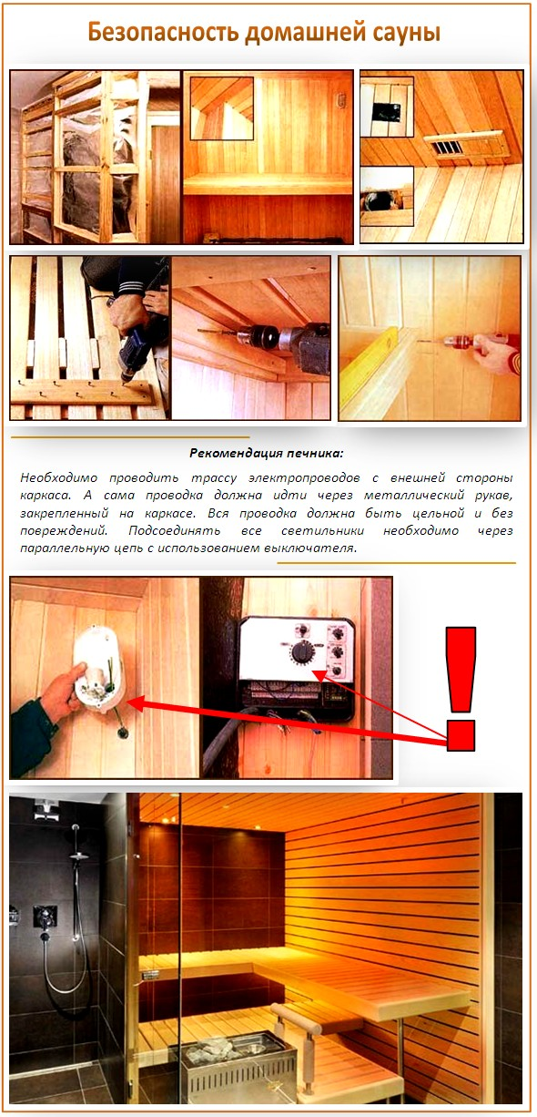 Безопасность домашней сауны