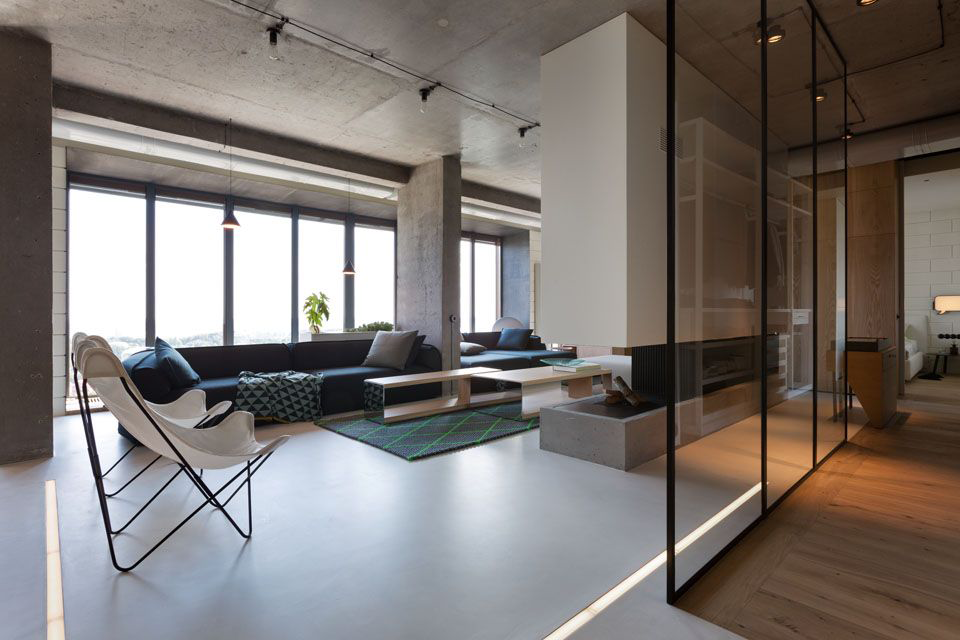 Фото 25 Бетонный потолок в интерьере: 60+ лаконичных идей для дизайна в стиле лофт, минимализм и хай-тек