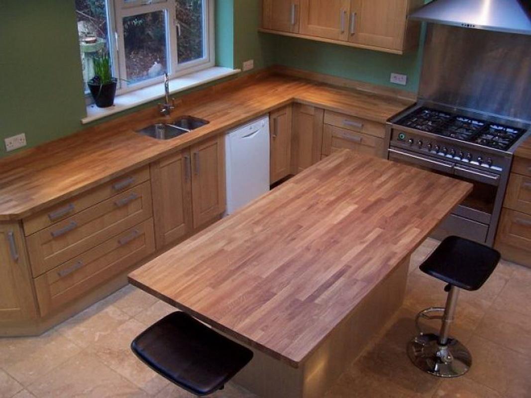 Фото-галерея красивых кухонных столешниц, изготовленных из дерева: