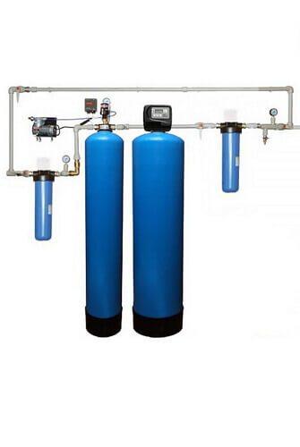 Очистка воды из скважины в загородном доме до питьевой. Вариант №2: от сероводорода и железа