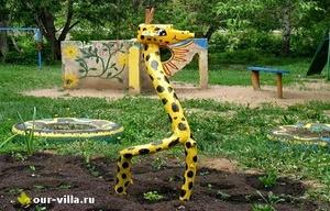 Жираф из коряги фото