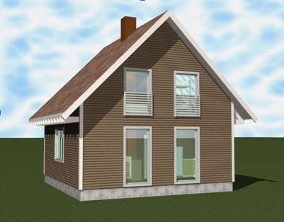 Объемная модель дома