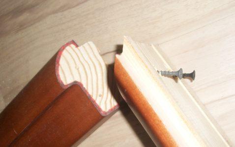 Сборка дверной коробки на саморезах по дереву