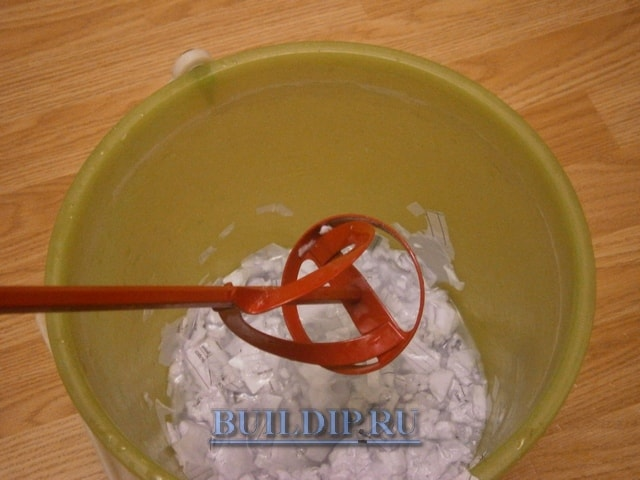 Приготовление жидких обоев