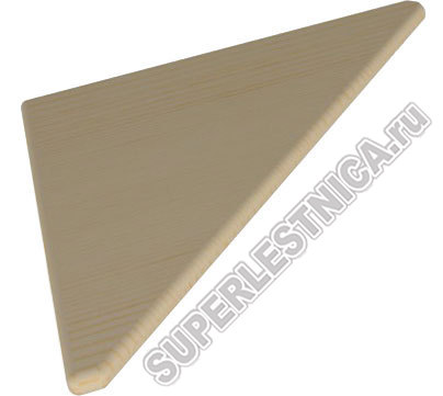 Твкую треугольную ступень из бука можно использовать для обшивки железобетонных ступеней. Цена 3 709 р.