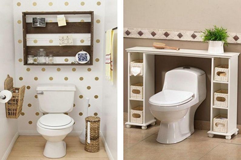 Дизайн маленького туалета - Освещение и декор