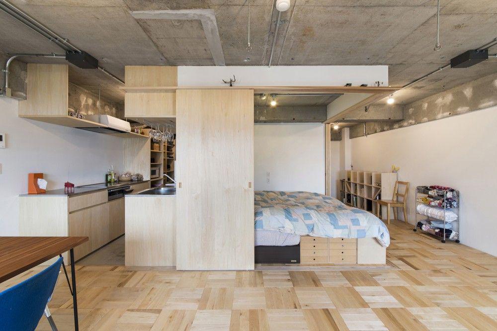 Фото 30 Бетонный потолок в интерьере: 60+ лаконичных идей для дизайна в стиле лофт, минимализм и хай-тек