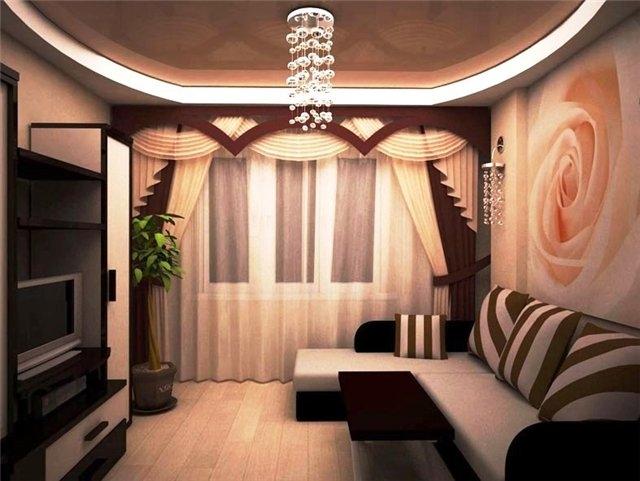 Пример оформления гостиной
