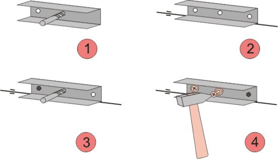 Крепление профиля по периметру помещения
