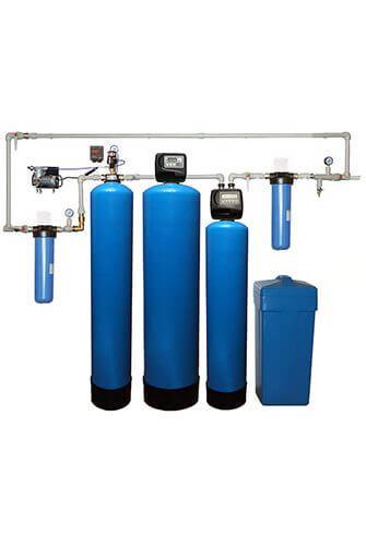 Очистка воды из скважины в загородном доме до питьевой. Вариант №3: от сероводорода, железа и жесткости