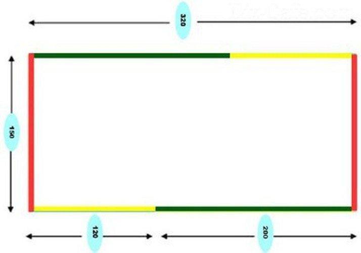 Образец чертежа для шитого гамака