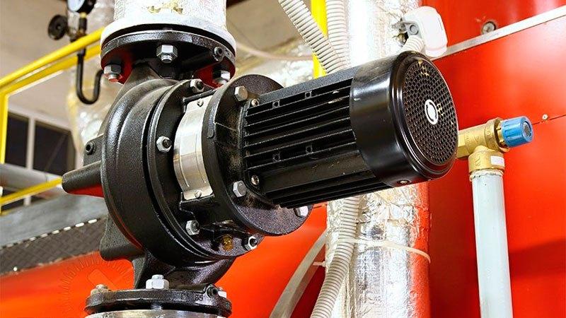 промышленный насос в системе отопления