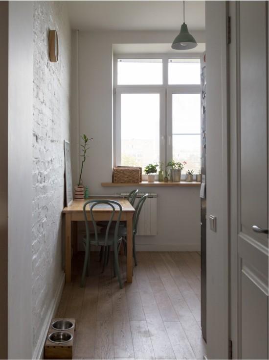 Кухня 6 кв. м без штор