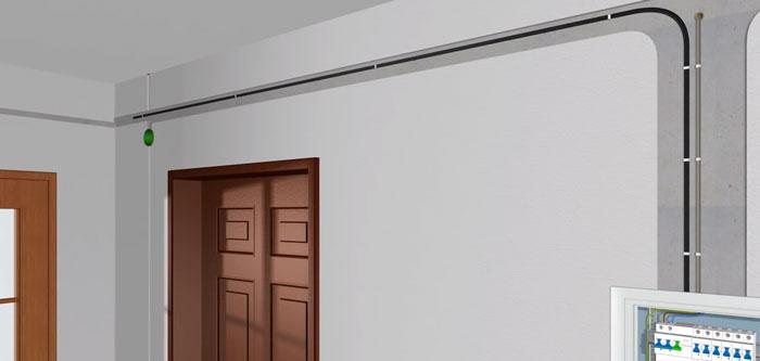 монтаж проводки для подключения диммера