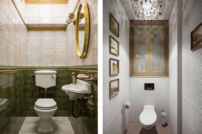 Маленький туалет в классическом стиле - Дизайн интерьера