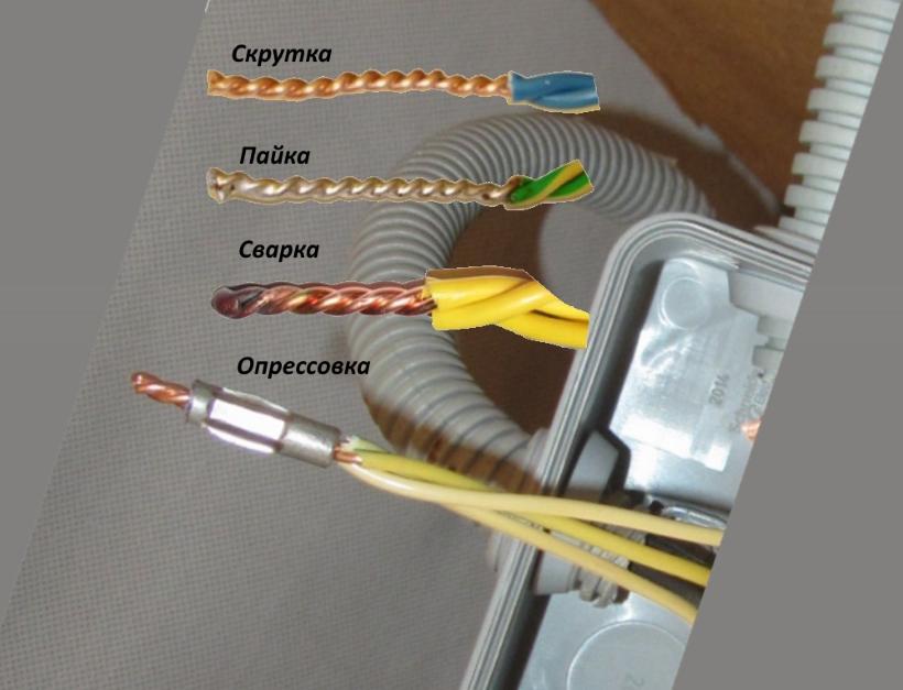 Как можно соединить провода