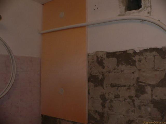 Утепление стен изнутри пеноплексом и гипсокартоном 1