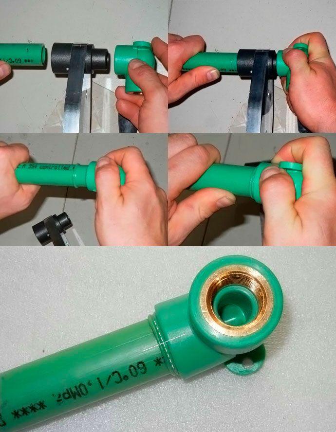 Процесс сварки полипропиленовых труб