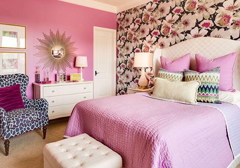 Комбинирование обоев в спальне - Обои и фотообои
